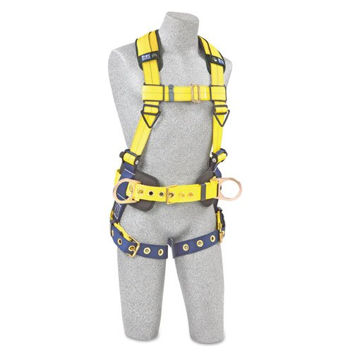 Full-Body Harness, Tongue Buckles, Side/Back D-Rings, Large, 420lb Capacity. Picture 1