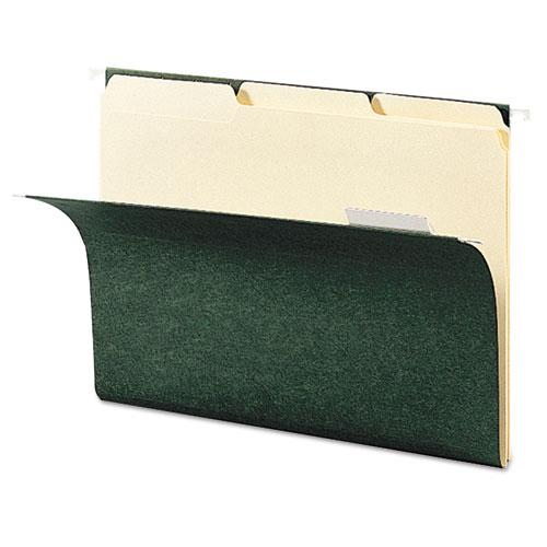 Hanging Folders, Letter Size, 1/3-Cut Tab, Standard Green, 25/Box. Picture 5