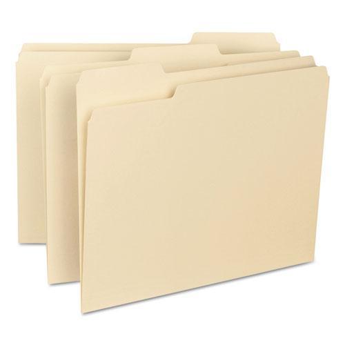 Interior File Folders, 1/3-Cut Tabs, Letter Size, Manila, 100/Box. Picture 2