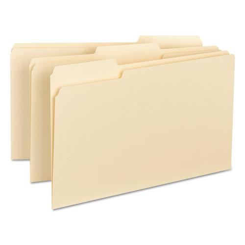 Interior File Folders, 1/3-Cut Tabs, Legal Size, Manila, 100/Box. Picture 2