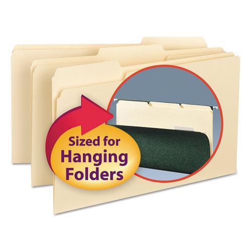 Interior File Folders, 1/3-Cut Tabs, Legal Size, Manila, 100/Box. Picture 1