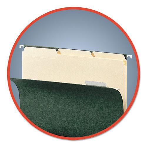Interior File Folders, 1/3-Cut Tabs, Letter Size, Manila, 100/Box. Picture 3