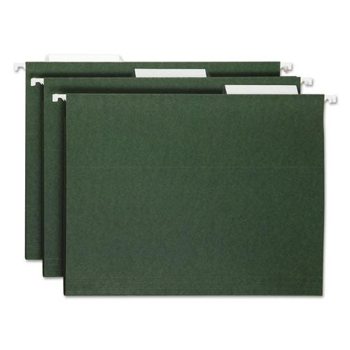 Hanging Folders, Letter Size, 1/3-Cut Tab, Standard Green, 25/Box. Picture 4
