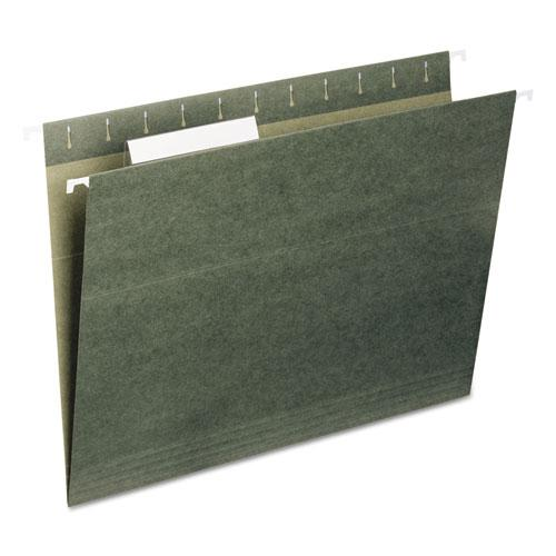Hanging Folders, Letter Size, 1/3-Cut Tab, Standard Green, 25/Box. Picture 1