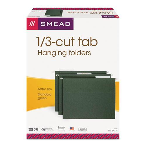 Hanging Folders, Letter Size, 1/3-Cut Tab, Standard Green, 25/Box. Picture 6