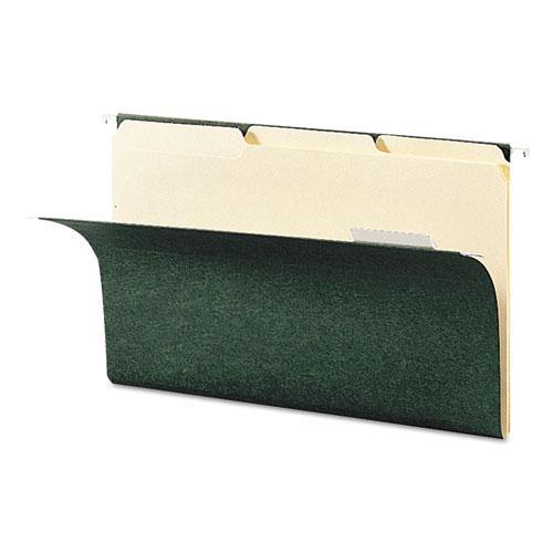 Interior File Folders, 1/3-Cut Tabs, Legal Size, Manila, 100/Box. Picture 3