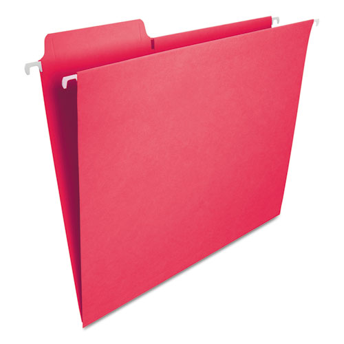 FasTab Hanging Folders, Letter Size, 1/3-Cut Tab, Red, 20/Box. Picture 2