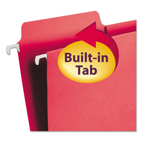 FasTab Hanging Folders, Letter Size, 1/3-Cut Tab, Red, 20/Box. Picture 3