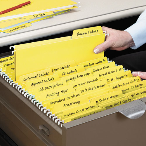 FasTab Hanging Folders, Letter Size, 1/3-Cut Tab, Yellow, 20/Box. Picture 2