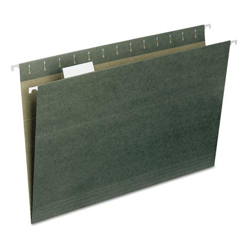 Hanging Folders, Legal Size, 1/5-Cut Tab, Standard Green, 25/Box. Picture 2