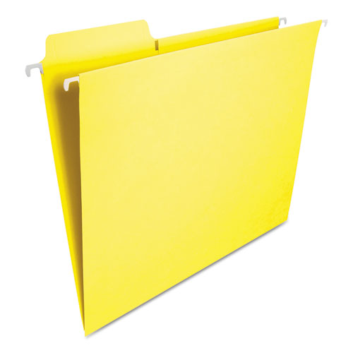 FasTab Hanging Folders, Letter Size, 1/3-Cut Tab, Yellow, 20/Box. Picture 4