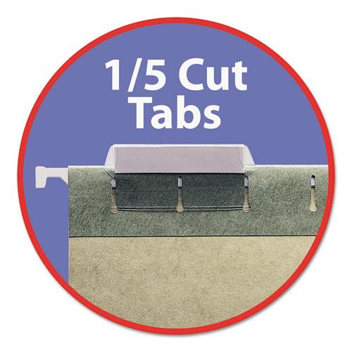 Hanging Folders, Legal Size, 1/5-Cut Tab, Standard Green, 25/Box. Picture 3