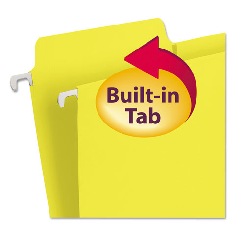 FasTab Hanging Folders, Letter Size, 1/3-Cut Tab, Yellow, 20/Box. Picture 5