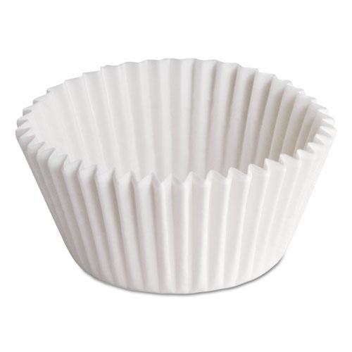 """Fluted Bake Cups, 7/8"""" x 7/8"""" x 1 1/4"""", White, 500/Pack, 20 Packs/Carton. Picture 1"""