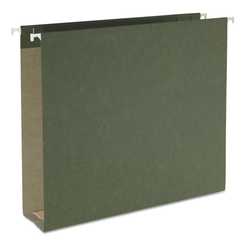 Box Bottom Hanging File Folders, Letter Size, Standard Green, 25/Box. Picture 3