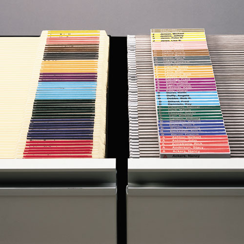"""Viewables Hanging Folder Tab Label Pack Refill, 1/3-Cut Tabs, Assorted Colors, 3.5"""" Wide, 160/Pack. Picture 2"""