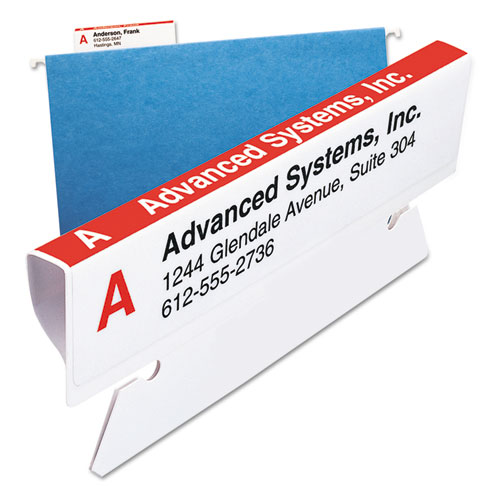 """Viewables Hanging Folder Tab Label Pack Refill, 1/3-Cut Tabs, Assorted Colors, 3.5"""" Wide, 160/Pack. Picture 3"""