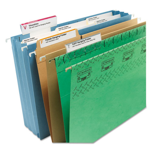 """Viewables Hanging Folder Tab Label Pack Refill, 1/3-Cut Tabs, Assorted Colors, 3.5"""" Wide, 160/Pack. Picture 4"""