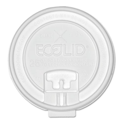25% Recy Content Dual-Temp Lk Tab Lid w/Straw Slot, 20oz Insul, 50/PK, 12 PK/CT. Picture 1