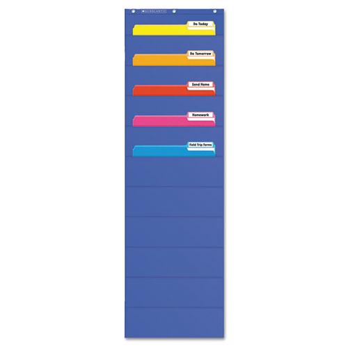 Pocket Charts File Organizer 14 Quot X 46 1 2 Quot Blue Plastic