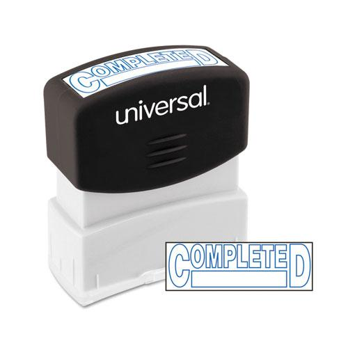 Message Stamp, COMPLETED, Pre-Inked One-Color, Blue Ink. Picture 1