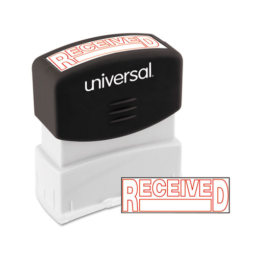 Message Stamp, RECEIVED, Pre-Inked One-Color, Red. Picture 1