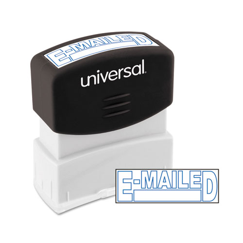 Message Stamp, E-MAILED, Pre-Inked One-Color, Blue. Picture 2