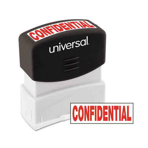 Message Stamp, CONFIDENTIAL, Pre-Inked One-Color, Red. Picture 1