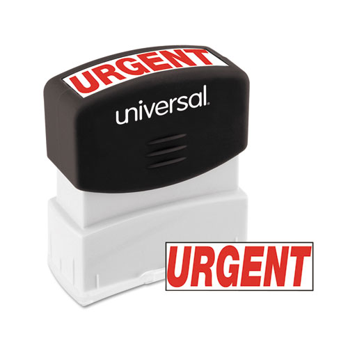 Message Stamp, URGENT, Pre-Inked One-Color, Red. Picture 1