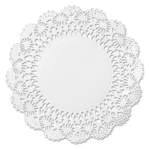 "Cambridge Lace Doilies, Round, 12"", White, 1000/Carton. Picture 1"
