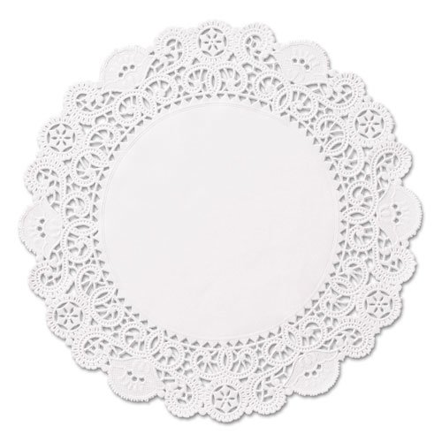 """Brooklace Lace Doilies, Round, 5"""", White, 2000/Carton. Picture 1"""