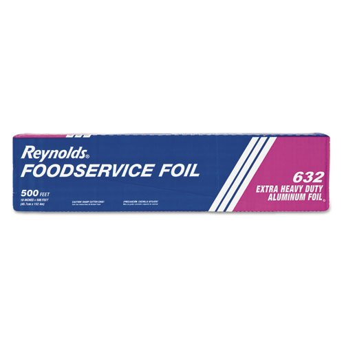 "Extra Heavy-Duty Aluminum Foil Roll, 18"" x 500 ft, Silver. Picture 1"
