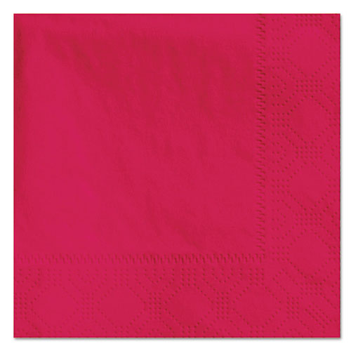 Beverage Napkins, 2-Ply, 9 1/2 x 9 1/2, Red, 1000/Carton. Picture 1