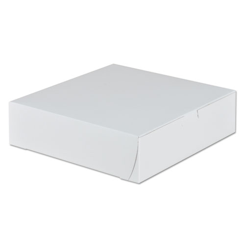 Tuck-Top Bakery Boxes, 9 x 9 x 2.5, White, 250/Carton. Picture 1