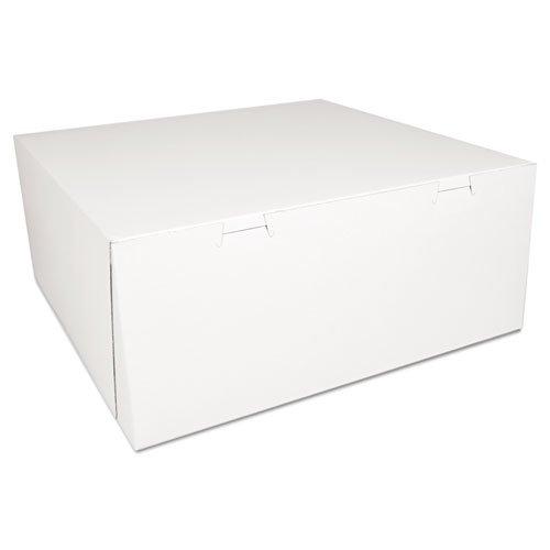 Bakery Boxes, 14 x 14 x 6, White, 50/Carton. Picture 1