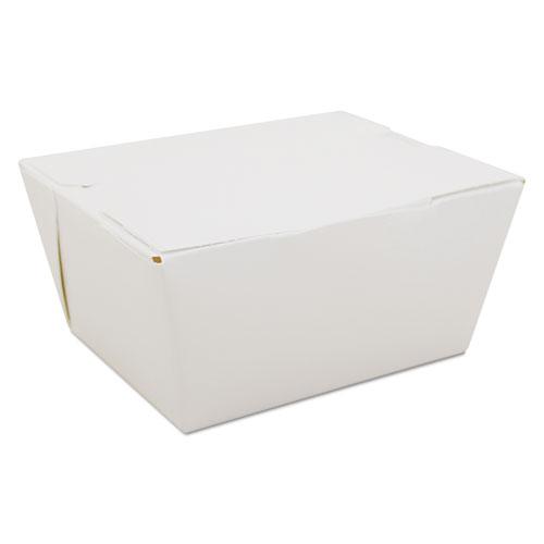 ChampPak Carryout Boxes, White, 4 3/8 x 3 1/2 x 2 1/2, 450/Carton. Picture 1