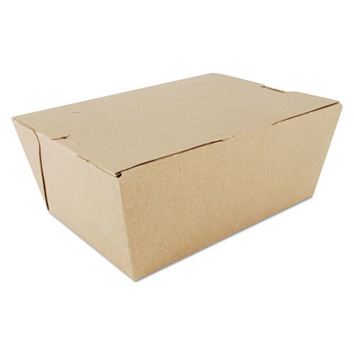 ChampPak Carryout Boxes, #4, Kraft, 7.75 x 5.5 x 3.5, 160/Carton. The main picture.