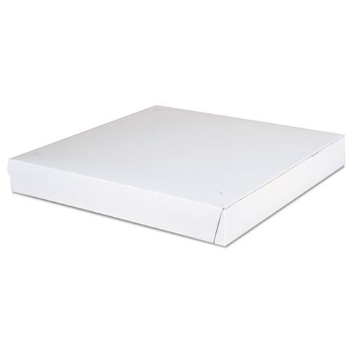 Paperboard Pizza Boxes,14 x 14 x 1.88, White, 100/Carton. Picture 1