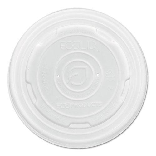 orld Art PLA-Laminated Soup Container Lids, Fits 8 oz Sizes, Translucent, 50/Pack, 20 Packs/Carton. Picture 1