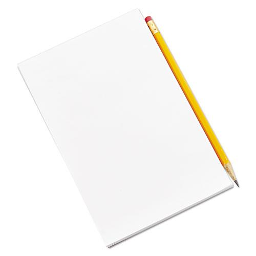 Scratch Pads, Unruled, 5 x 8, White, 100 Sheets, 12/Pack. Picture 2