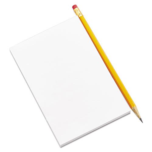 Scratch Pads, Unruled, 5 x 8, White, 100 Sheets, 12/Pack. Picture 8