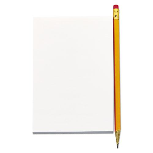 Scratch Pads, Unruled, 5 x 8, White, 100 Sheets, 12/Pack. Picture 10