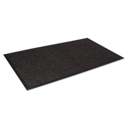 Super-Soaker Wiper Mat with Gripper Bottom, Polypropylene, 36 x 60, Charcoal. Picture 2