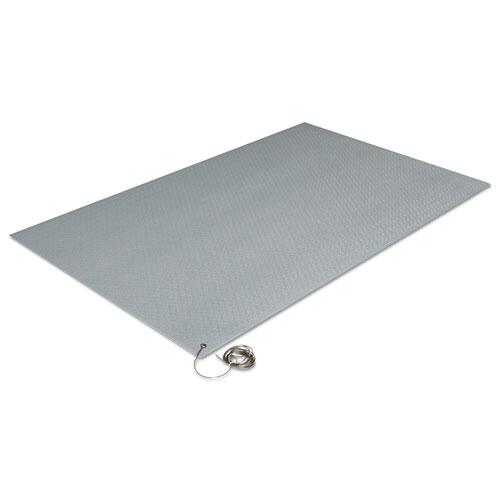 Antistatic Comfort-King Mat, Sponge, 24 x 60, Steel Gray. Picture 2
