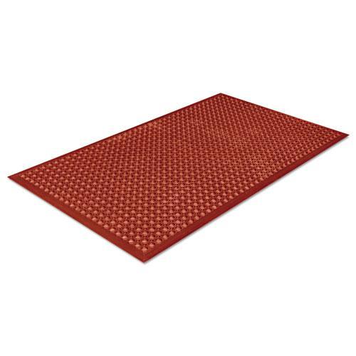 Safewalk-Light Heavy-Duty Anti-Fatigue Mat, Rubber, 36 x 60, Terra Cotta. Picture 2