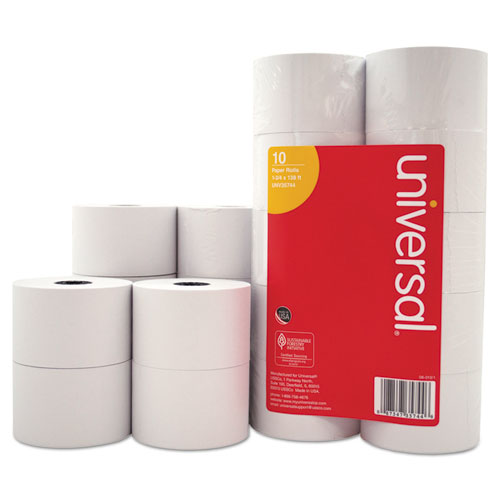 """Impact and Inkjet Print Bond Paper Rolls, 0.5"""" Core, 1.75"""" x 138 ft, White, 10/Pack. Picture 1"""