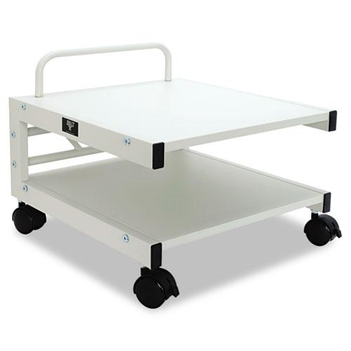 Low Profile Mobile Printer Stand, 17w x 17d x 14h, Gray. Picture 1
