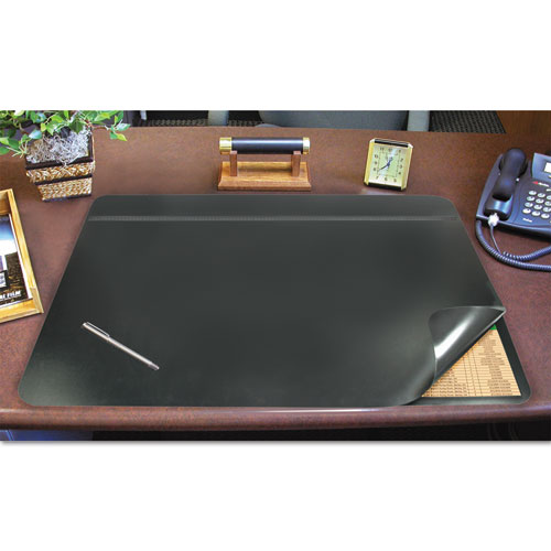 Hide-Away PVC Desk Pad, 24 x 19, Black. Picture 1