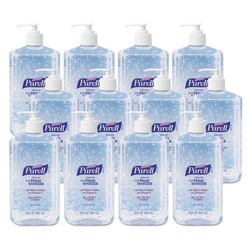 Advanced Hand Sanitizer Refreshing Gel, Clean Scent, 20 oz Pump Bottle, 12/Carton. Picture 3