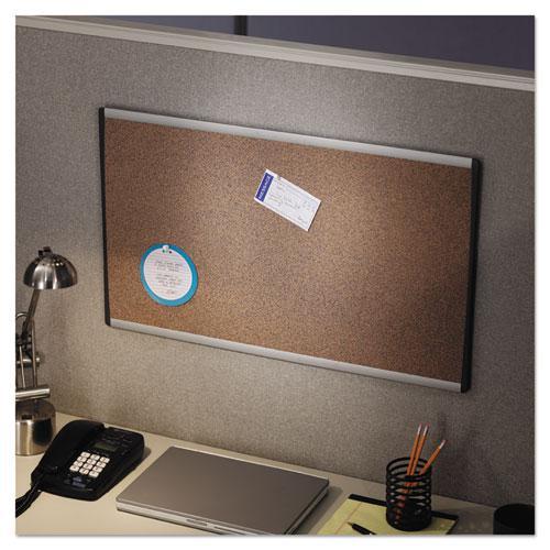 ARC Frame Cork Cubicle Board, 18 x 30, Tan, Aluminum Frame. Picture 4